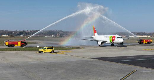 Flugzeug, Taufe, TAP Air, Portugal, EuroAirport, © EuroAirport Basel-Mulhouse-Freiburg