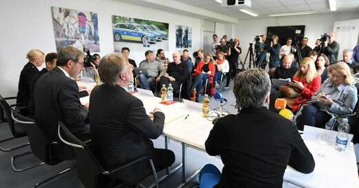 Pressekonferenz, Missbrauch, Staufen, Ermittler, Polizei, Staatsanwaltschaft, © Patrick Seeger - dpa