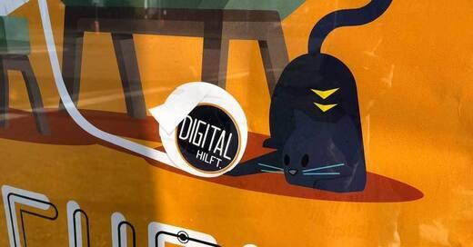 Blaue Katze, Werbekampagne, Digital hilft, © baden.fm