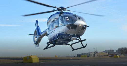 Polizei, Hubschrauber, Helikopter, © Franziska Kraufmann - dpa (Symbolbild)