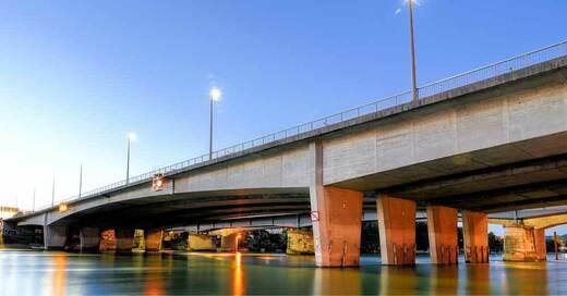 Rhein, Fluss, Brücke, Basel, Weil am Rhein, © Pixabay (Symbolbild)