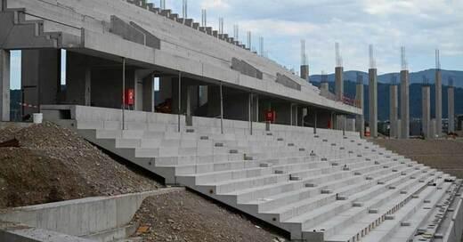 Baustelle, SC Freiburg, Stadion, © Patrick Seeger - dpa