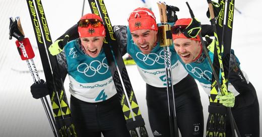 Nordische Kombination, Fabian Rießle, Eric Frenzel, Johannes Rydzek, © Daniel Karmann - dpa