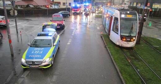 Unfall, Straßenbahn, Vauban, © Amt für Brand- und Katastrophenschutz Freiburg