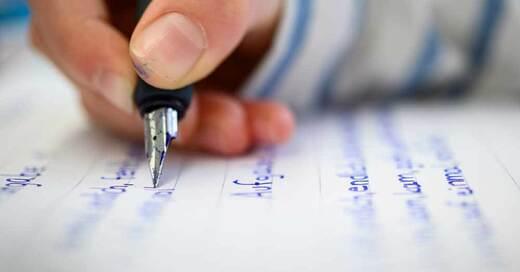 Rechtschreibung, Schreibschrift, Bildung, Unterricht, © Sebastian Gollnow - dpa (Symbolbild)