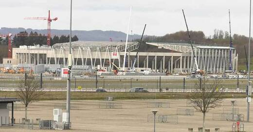 Stadion, SC Freiburg, Baustelle, Wolfswinkel, © baden.fm