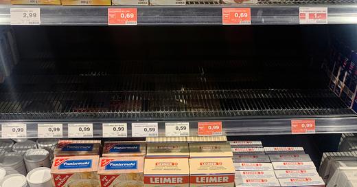 Supermarkt, Hamsterkäufe, Lebensmittel, Coronavirus, © Paul Zinken - dpa (Symbolbild)