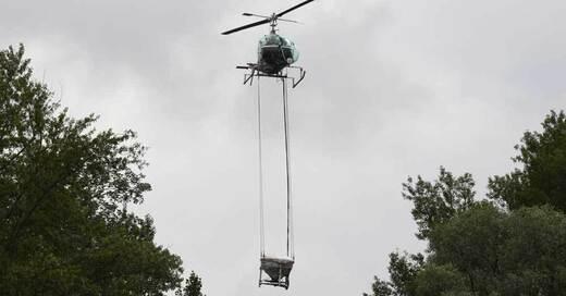 Hubschrauber, KABS, Schnakenbekämpfung, © Uli Deck - dpa