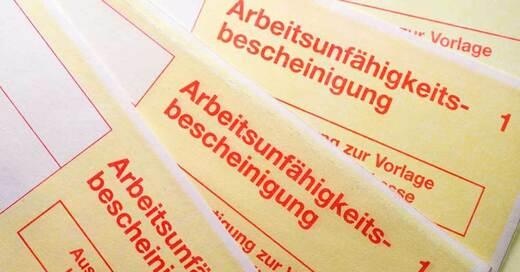 Arbeitsunfähigkeitsbescheinigung, AU, Krankmeldung, © Sina Schuldt - dpa