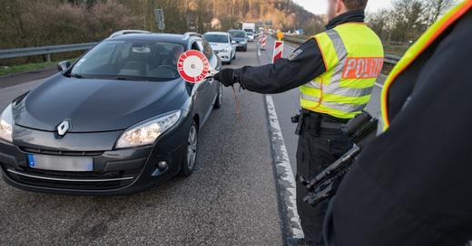 Grenzübergang, Frankreich, Kontrolle, Polizei, Verkehr, © Oliver Dietze - dpa (Symbolbild)
