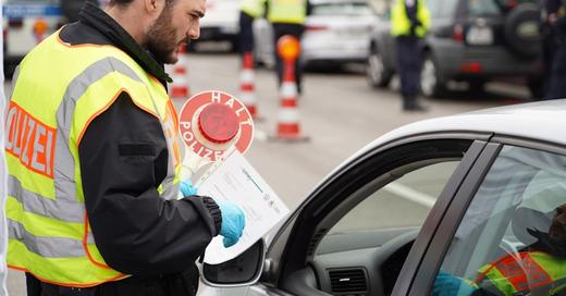Grenzkontrolle, Grenze, Frankreich, Südbaden, Elsass, Kehl, Straßburg, © Benedikt Spether - dpa (Symbolbild)