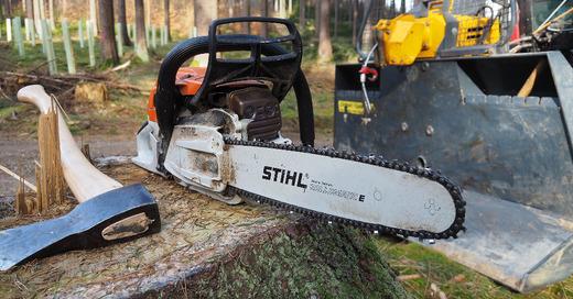 Waldarbeiten, Forstarbeiten, Axt, Kettensäge, © Pixabay (Symbolbild)
