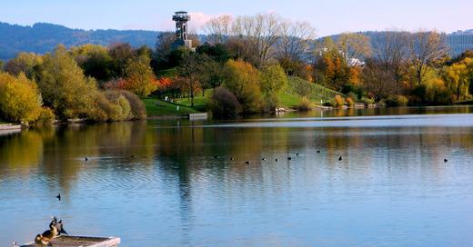 Seepark, Freiburg, Turm, Flückiger See, © Pixabay (Symbolbild)