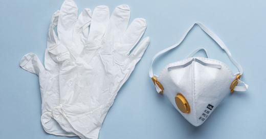 Einweghandschuhe, Atemschutzmaske, Mundschutz, FFP3, © Christian Beutler - Keystone / dpa (Symbolbild)