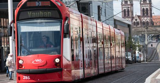 Straßenbahn, VAG, Freiburger Verkehrs AG, Tram, © Patrick Seeger - dpa (Archivbild)