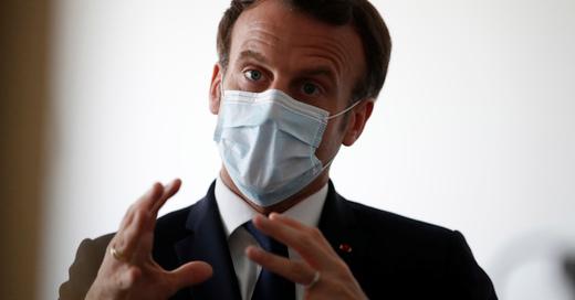 Emmanuel Macron, Präsident, Frankreich, Mundschutz, Coronavirus, © Gonzalo Fuentes - Pool Reuters / AP / dpa (Archivbild)