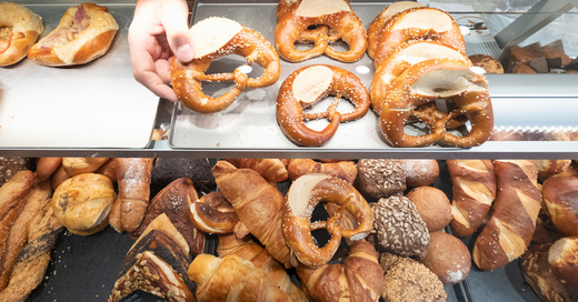 Bäckereien, Bäcker, Brezel, Brötchen, Croissant, © Bernd Weissbrod - dpa (Symbolbild)