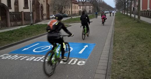 Fahrrad, Schnellweg, Fahrradstraße, Freiburg, © Stadt Freiburg