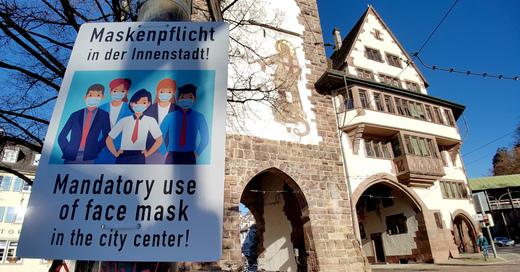 Maskenpflicht, Freiburg, Coronavirus, Corona, Covid19, Innenstadt, Schwabentor, © baden.fm (Symbolbild)