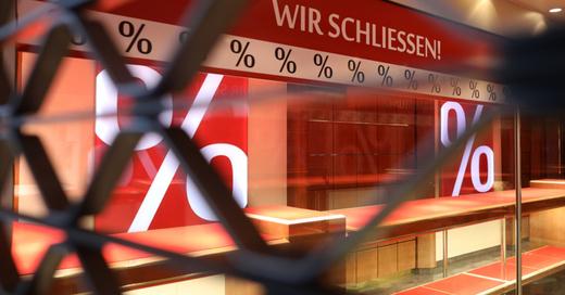 Ausverkauf, Einzelhandel, Schließung, Insolvenz, © Oliver Berg - dpa (Symbolbild)