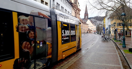 Freiburg, Straßenbahn, Linie 3, Vauban, Altstadt, Innenstadt, Bertoldstraße, © baden.fm