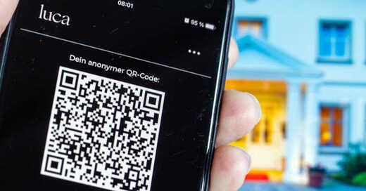 Luca App, Smartphone, Coronavirus, Covid-19, Kontaktverfolgung, © Jens Büttner - dpa