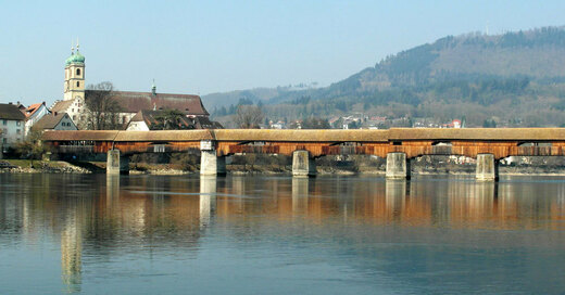 Hochrhein, Holzbrücke, © Pixabay (Symbolbild)