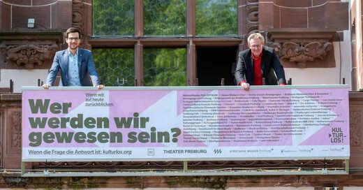Kampagne für Kultur, Freiburg, Rathaus, Oberbürgermeister, Martin Horn, Ulrich von Kirchbach, Erster Bürgermeister, © Stadt Freiburg