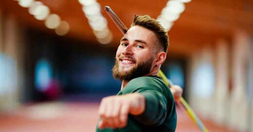 Johannes Vetter, Speerwerfen, Speerwurf, Leichtathletik, Training, Offenburg, Olympia, © Uwe Anspach - dpa