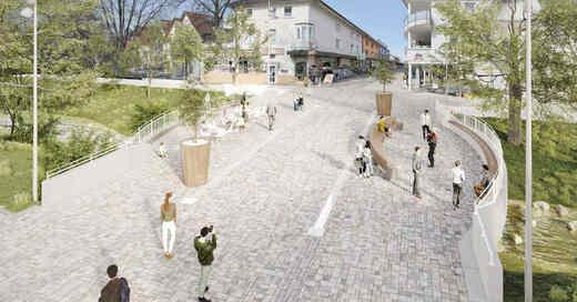 Bernhardusbrücke, Visualisierung, Brücke, Bad Krozingen, Neumagen, © Theobald + Partner Ingenieure / Stadt Bad Krozingen
