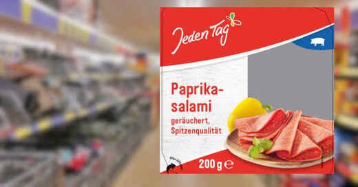 Jeden Tag, Paprikasalami, Salami, Produktrückruf, Rückruf, © Zentrale Handelsgesellschaft mbH / Pixabay (Fotocollage)