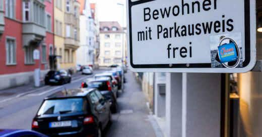 Anwohnerparken, Anwohner, Parkausweis, Parkplatz, Freiburg, © Philipp von Ditfurth - dpa