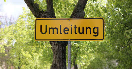 Umleitung, Baustelle, Straßensperrung, Verkehr, © Pixabay (Symbolbild)