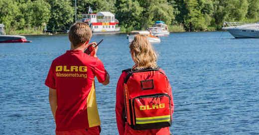 Rettungsschwimmer, DLRG, Badesee, Rhein, Fluss, Badeunfall, Wasserrettung, © DLRG (Archivbild)