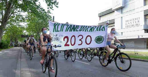 Fahrraddemo, Fridays for Future, Klimastreik, Freiburg, © baden.fm