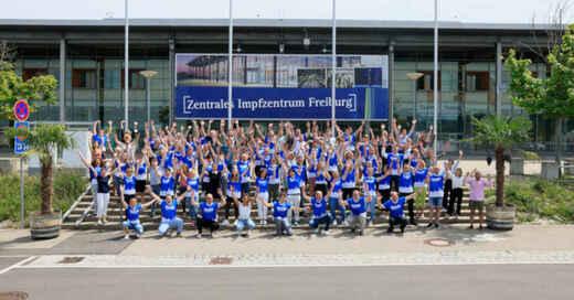 Zentrales Impfzentrum, Messe Freiburg, Corona-Schutzimpfung, Team, © FWTM