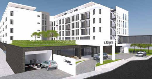 Bad Krozingen, Kurpark, Hotel, 4-Sterne-Hotel, Visualisierung, © Kur & Bäder GmbH Bad Krozingen