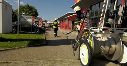 Feuerwehr, Freiburg, Brand, Industriegebiet, Haid, Gewerbegebiet, © baden.fm