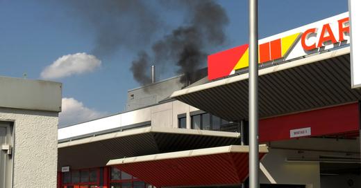 Rauch, Gewerbegebiet, Haid, Industriegebiet, Freiburg, Brand, © baden.fm