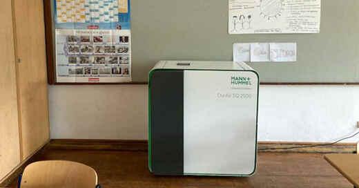 Luftfilter, Klassenzimmer, Unterricht, Schule, Coronavirus, Aerosole, © Henning Otte - dpa (Symbolbild)