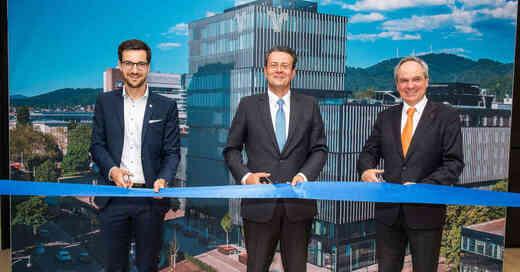 Volksbank, Freiburg, Eröffnung, Neubau, Uwe Barth, Martin Horn, © Klaus Polkowski / Volksbank Freiburg