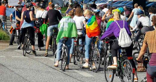 Fridays For Future, Fahrraddemo, Klimastreik, Haid, Freiburg, © baden.fm (Archivbild)