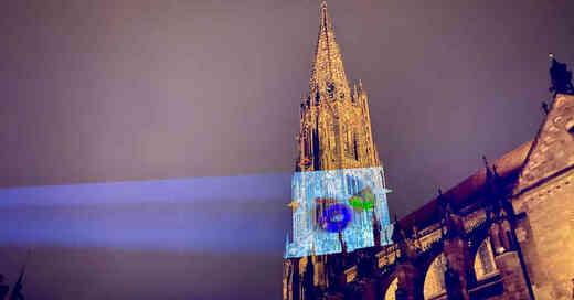 Münster, Freiburg, Illumination, Mappingshow, Projektion, Stadtjubiläum, © Kai Flogaus - Münsterbauverein Freiburg