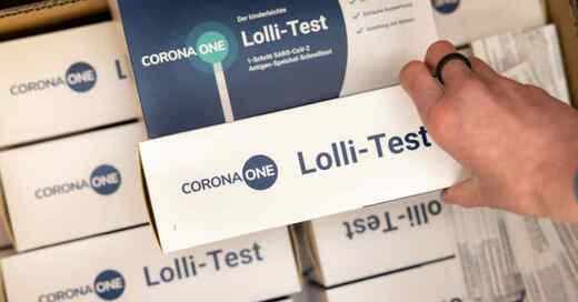 Lollitest, Corona, PCR-Test, Schule, Unterricht, Coronavirus, Covid-19, © Michael Reichel - dpa (Symbolbild)