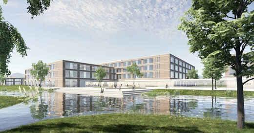Ortenau Klinikum, Achern, Neubau, Krankenhaus, Entwurf, Architekten, Klinik, © gmp Architekten (Visualisierung)