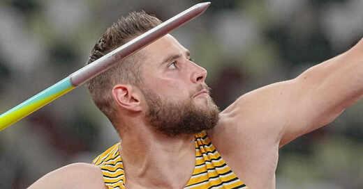 Johannes Vetter, Speerwurf, Speerwerfer, Leichtathletik, Offenburg, Olympia, Olympische Spiele, Tokio, © Michael Kappeler - dpa (Symbolbild)