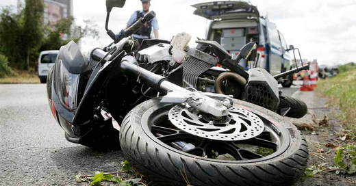 Motorrad, Unfall, Verkehrstote, © David Young - dpa (Symbolbild)
