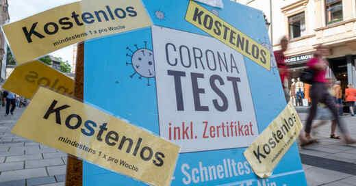 Coronavirus, Coronatest, Antigen-Schnelltest, Testzentrum, Pandemie, © Peter Kneffel - dpa