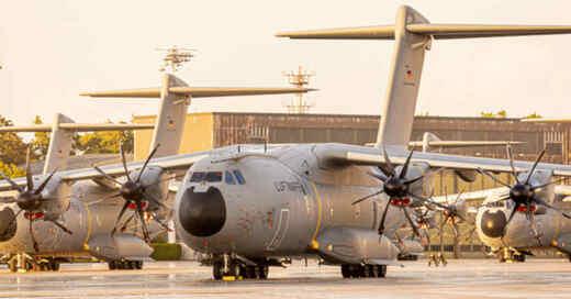 Bundeswehr, Luftwaffe, Transportflugzeug, Airbus, A400m, Afghanistan, Rettungseinsatz, © Moritz Frankenberg - dpa
