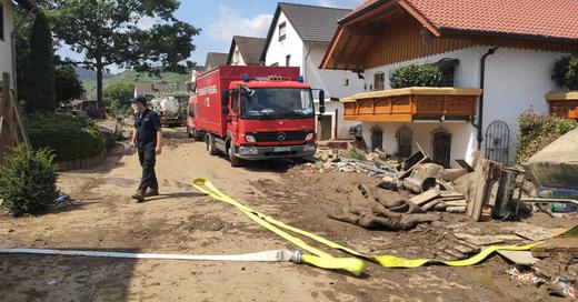 Flutkatastrophe, Hochwasser, Zerstörung, Rheinland-Pfalz, Nordrhein-Westfalen, Ahr, Feuerwehr Freiburg, © Feuerwehr Freiburg